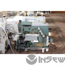 Kansai Special DFB 1404 PMD Многоигольная машина для притачивания резинки пояса, нашивания полос, изготовления пояса брюк, планок.