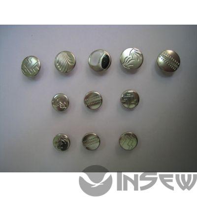 Пуговица-заклёпка для джинсовых изделий (серебро)