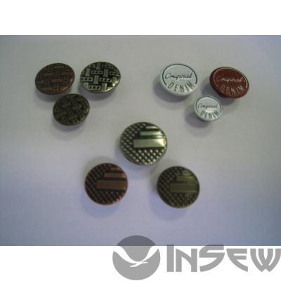 Пуговица-заклёпка в любом оттенке и размере (001)