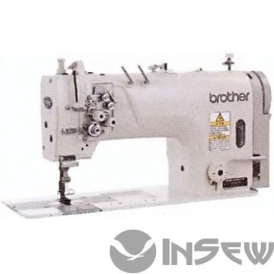 Brother Т8420С-003-N64D Двухигольная машина челночного стежка с игольным продвижением для легких и средних материалов