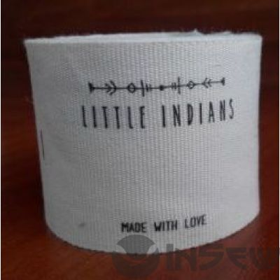 Этикетки и бирки тканевые на заказ с логотипом