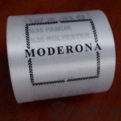 Сатиновая этикетка с логотипом и составником