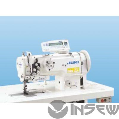 Juki LU1561ND 2-игольная швейная машина челночного стежка с унисонной подачей и большим челноком с вертикальной осью вращения
