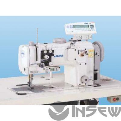 Juki LU2260NSDSA-70BZ Высокоскоростная 2-игольная швейная машина челночного стежка с унисонной подачей и большим увеличенным в 1,6 раза челноком с вертикальной осью вращения