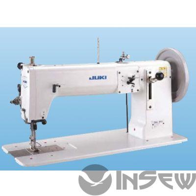 Juki TNU243U 1-игольная швейная машина челночного стежка с плоской платформой средней длины и большим качающимся челноком для шитья сверхтяжелых материалов