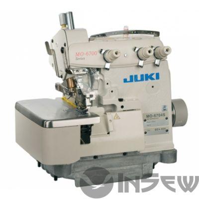 JUKI МО-6704S-OE4-40H-BBO - 1-но игольный, 3-х ниточный краеобмёточный  оверлок  для легких и средних материалов