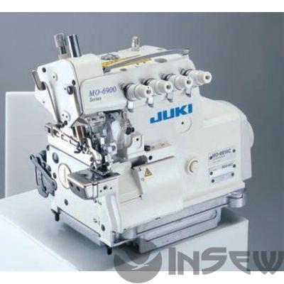 Juki MO6916R-DD6-300 Высокоскоростная 2-игольная пятиниточная машина предохранительного стежка  с ножом для обрезки ткани для легких и средних материалов