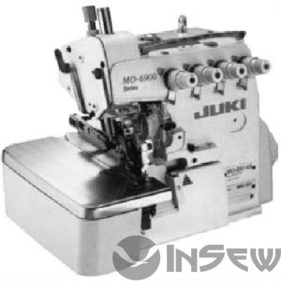 Juki MO6914S-BD6-307 Сверхскоростная 2-игольная четырехниточная машина предохранительного стежка (оверлок)  с ножом для обрезки ткани