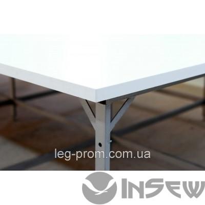 Раскройный стол с стыком из полимера, труба 40х20, с полкой