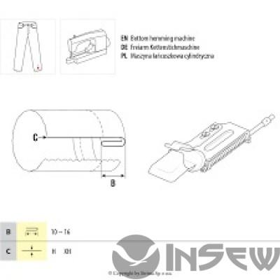 UMA-142 Приспособление для двойной подгибки среза вниз