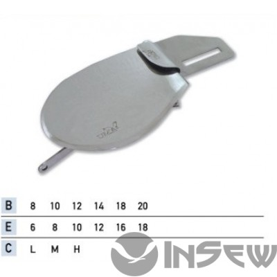 UMA-86-A Приспособление для подгибки вниз с открытым срезом с притачкой резинки