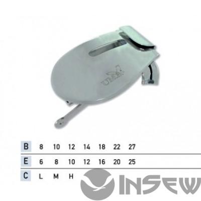 UMA-87-B Приспособление для подгибки вниз с открытым срезом с притачкой резинки